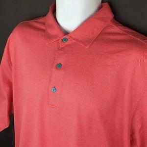 Peter Millar Polo Shirt Mens XLarge Cotton Melon